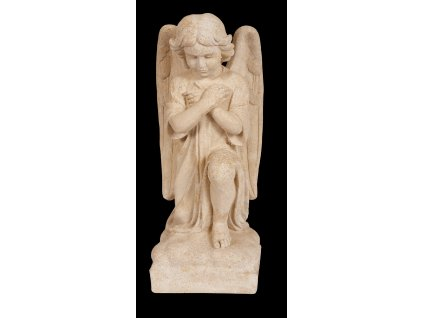 zahradní dekorace - sochy a sošky na zahradu, Anděl s překříženýma rukama, 22kg