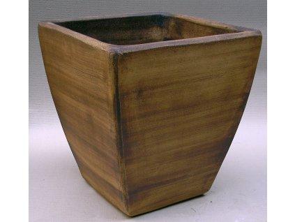 Keramické květináče - váza kónická 500x500x550 (Odstín-glazura 2.cihlově tmavá-terakota-CT)