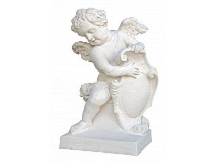 socha, zahradní sochy velké z pískovce, Anděl - baroko - levý, 220kg