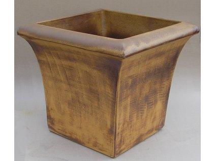 Keramické květináče - váza TOP 420x390 (Odstín-glazura 2.cihlově tmavá-terakota-CT)