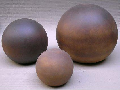 Zahradní keramika - koule 300300 (Odstín-glazura 2.cihlově tmavá-terakota-CT)