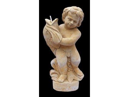 zahradní socha, Dítě s rybou, 28kg