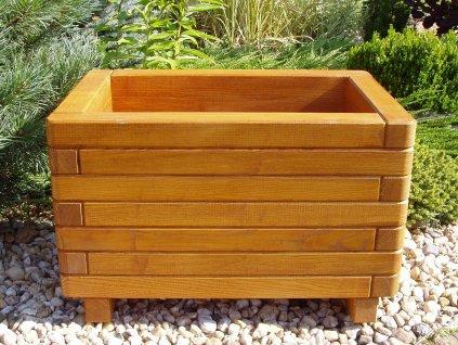 zahradnidekorace zahradni květináče ELEGANCE 60x120 dřevěné dubové