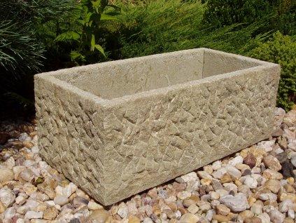 kamenné koryto z pískovce HRUBÉ 50x24x19cm písková přírodní