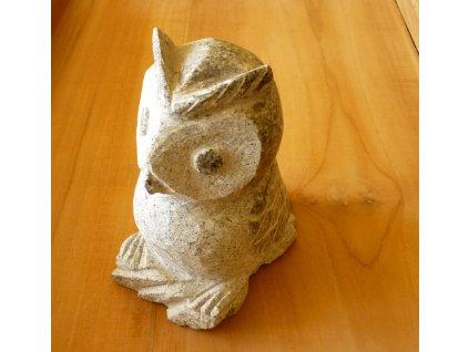 bytové dekorace-zahradní socha, soška žulová sova 15cm