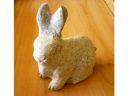 bytové dekorace-zahradní socha, soška žulový králík 15cm