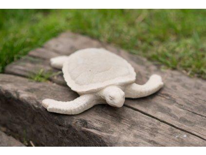 bytové dekorace-zahradní socha, soška želva z pískovce II 0,9kg