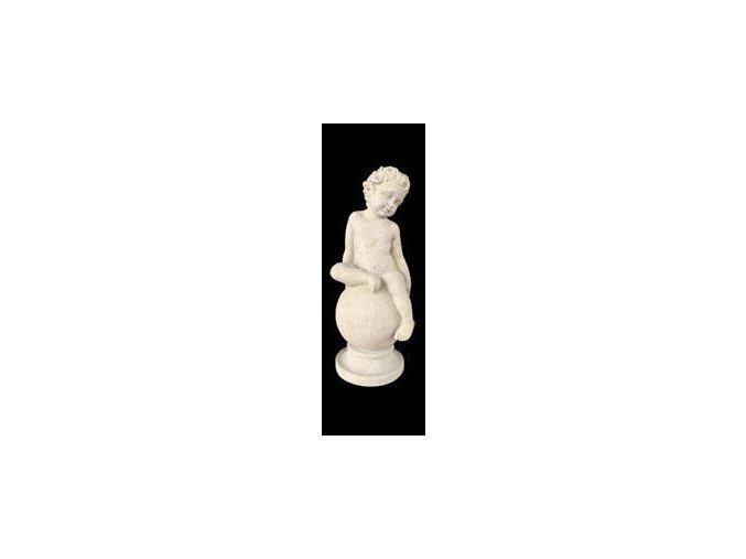zahradní sochy a dekorace, Dítě na kouli II.  5kg  J