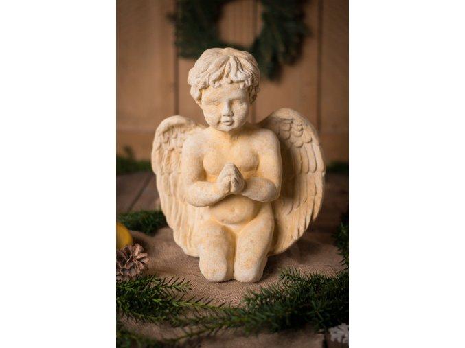 zahradní sochy a dekorace, Anděl klečící IV. 12 kg T