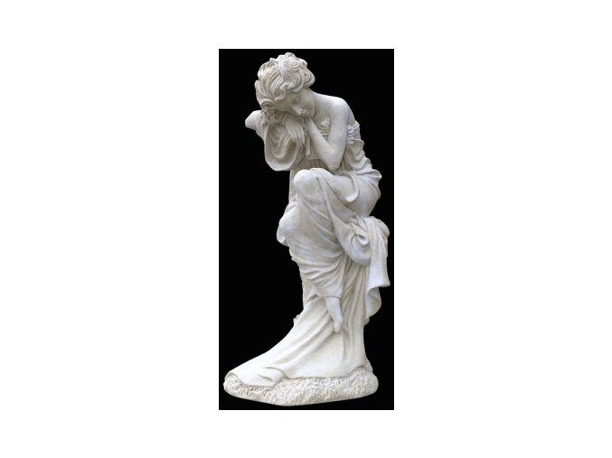 zahradní sochy a dekorace, Žena na pařezu  6,3 kg J