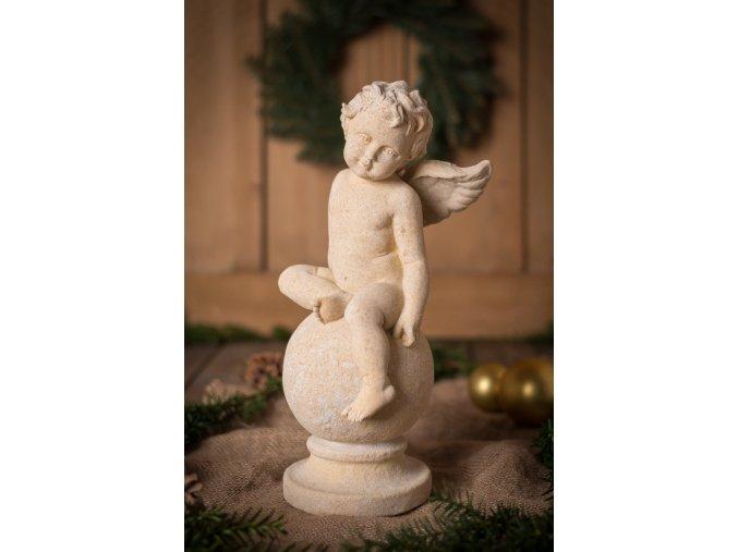 zahradní sochy a dekorace, Anděl na kouli IV. 5,2 kg J