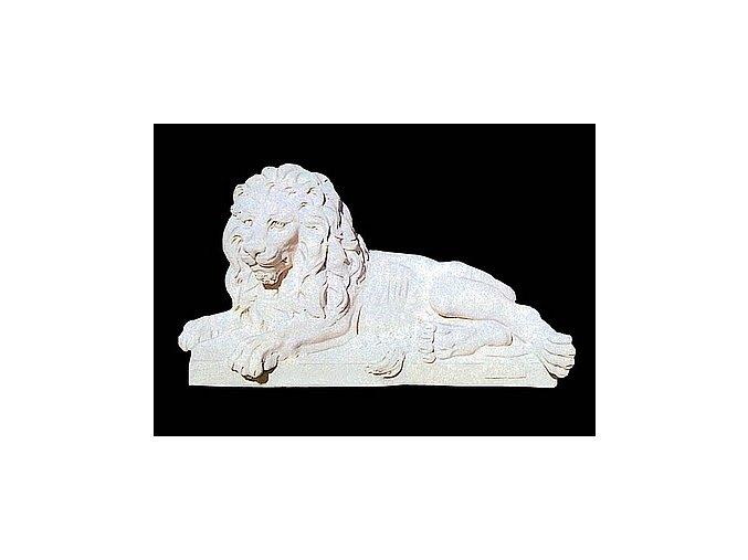 sochy zvířat, Lev ležící levý 213kg  T