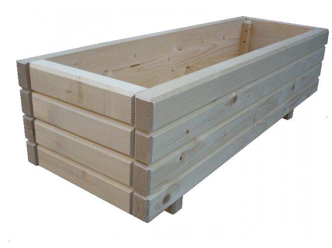 Dřevěný venkovní květináč bez úpravy 60x40 cm