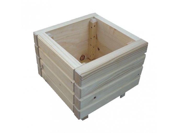 SLEVA - Dřevěný venkovní květináč bez úpravy 90x60 cm, skladový