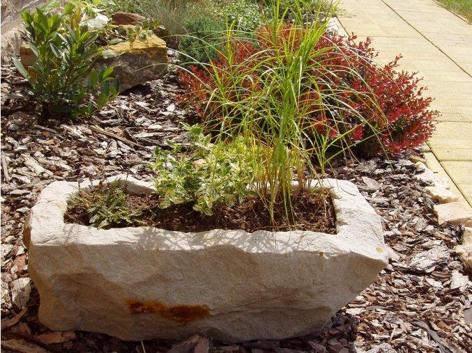 kamenné koryto z pískovce NATUR 56cm