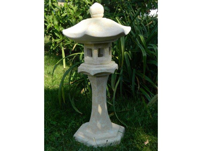 japonské zahradní lampy 60x45x22cm kamenná okrová