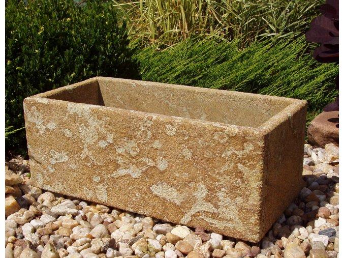kamenné koryto z pískovce JEMNÉ 50x24x19 písková přírodní