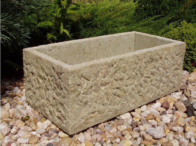 kamenné koryto z pískovce 50x24x19 HRUBÉ