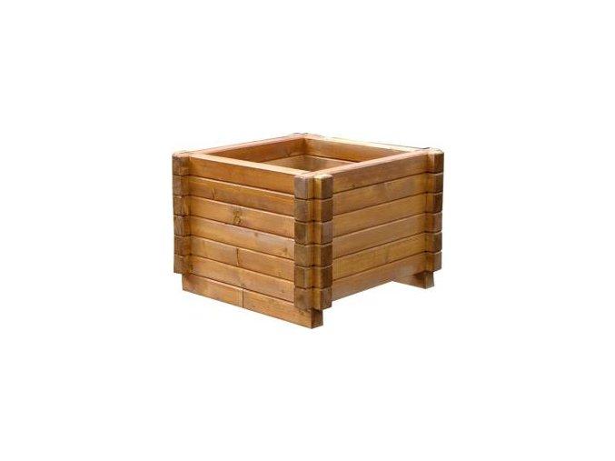 Venkovní květináče, dřevěné truhlíky -  smrkový KLASIK 60x60cm
