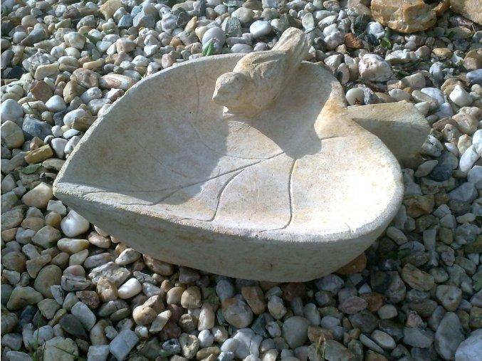 zahradní sochy, soška pítko KAS284b 30x30x12cm kamenné písková