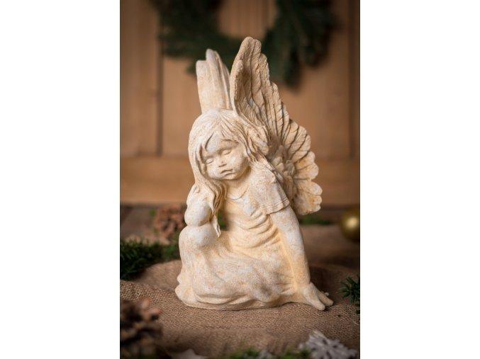 zahradní sochy a dekorace, Anděl - děvčátko 4 kg J