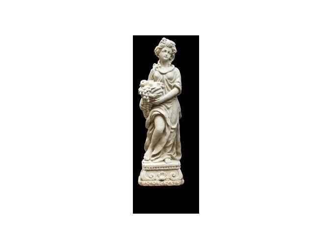 zahradní sochy a dekorace, Žena sovocným košem 1,8 kg  J