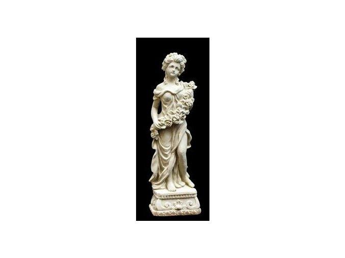 zahradní sochy a dekorace, Žena skvětinovou girlandou  1,8 kg  J