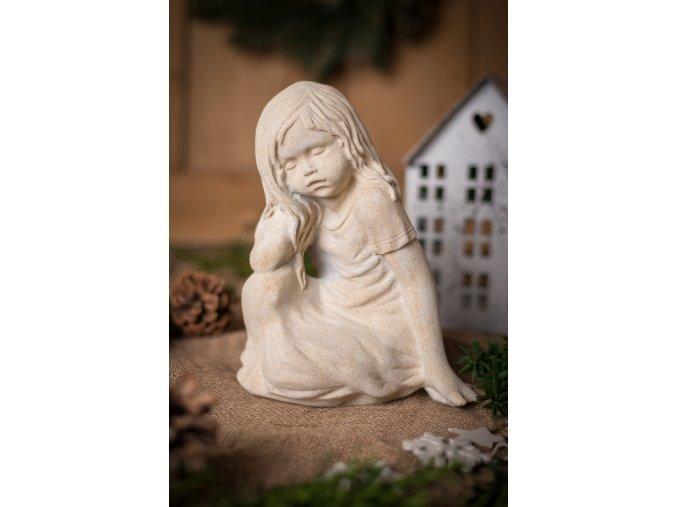 zahradní sochy a dekorace, Děvčátko II. (bez křídel) 3,2 kg J