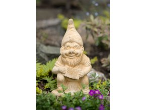 zahradní sochy a dekorace, soška trpaslík s harmonikou 3kg
