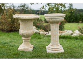 zahradní vázy, Váza - kalich s rel. 70 kg  T
