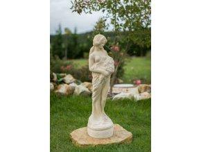 zahradní sochy, soška dívka s kyticí 20kg