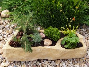 AKCE 2ks zahradní koryta TTRP0465 kamenná z umělého pískovce
