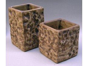 Keramické květináče - váza STONE 300x340