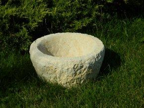 zahradní květináč 28x15 kamenný