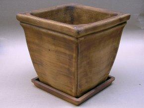 Keramické květináče - váza s lemem kónická bez podmisky 450x450x440