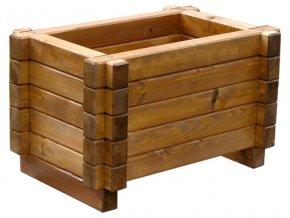 Venkovní květináče, dřevěné truhlíky -  smrkový KLASIK 40x60cm
