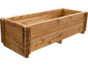 Venkovní květináče, dřevěné truhlíky -  smrkový KLASIK 60x120cm