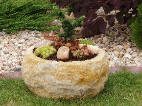 zahradní květináč TTCP2138 pr.38x18cm kamenný umělý pískovec