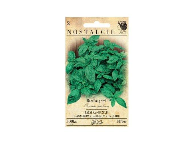 40880 bazalka prava zelena nostalgie