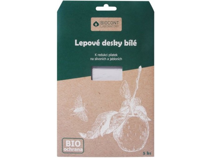 Biocont bílé desky proti pilatkám na Švestky a Jabloně - 5ks