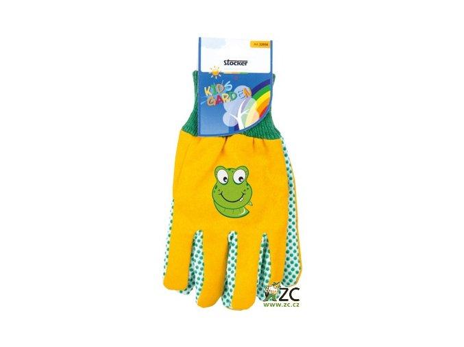 Dětské rukavice žluté Stocker