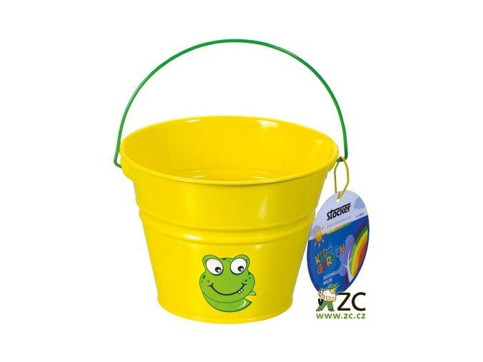 42701 detsky kyblik kovovy zluty stocker