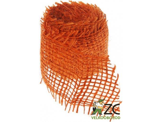 Jutová stuha 4cm x 3m - oranžová