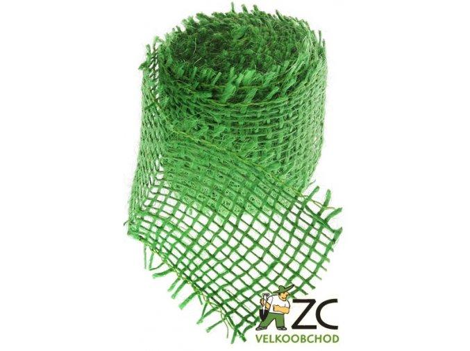 Jutová stuha 4cm x 3m - světle zelená