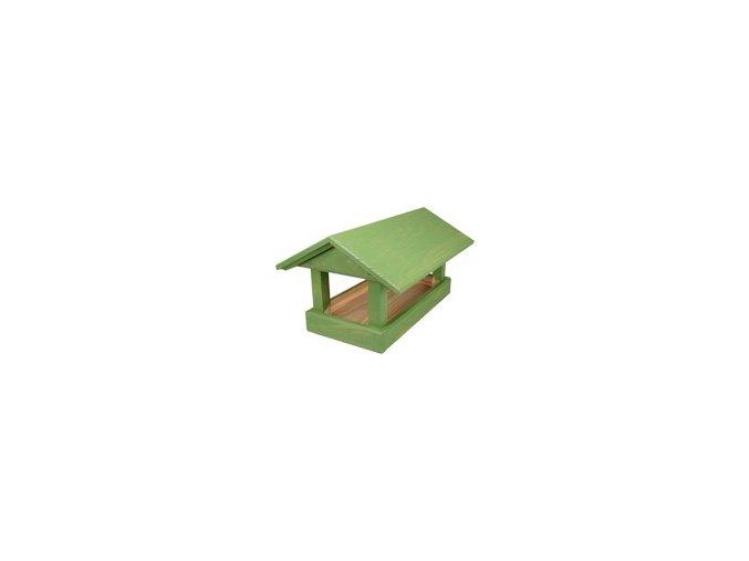 Krmítko č. 12 dřevěné zelené 24x40x20cm