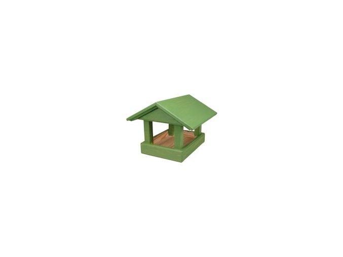 Krmítko č. 13 dřevěné zelené 24x30x20cm
