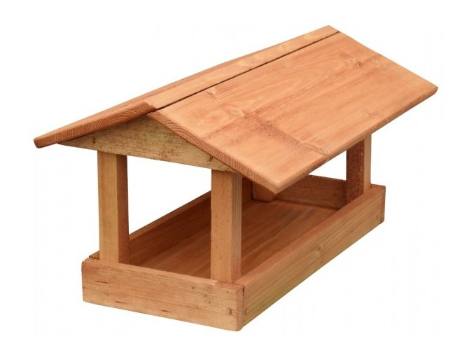 Krmítko č.18 dřevěné hnědé 24x40x20cm