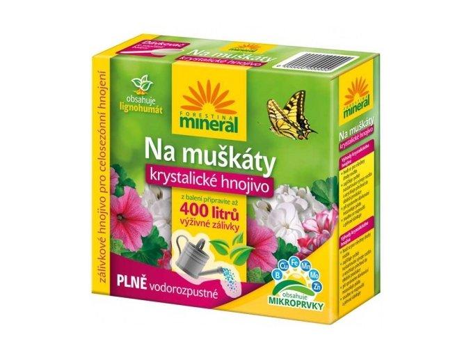 Krystalické hnojivo s lignohumátem na Muškáty - 400g