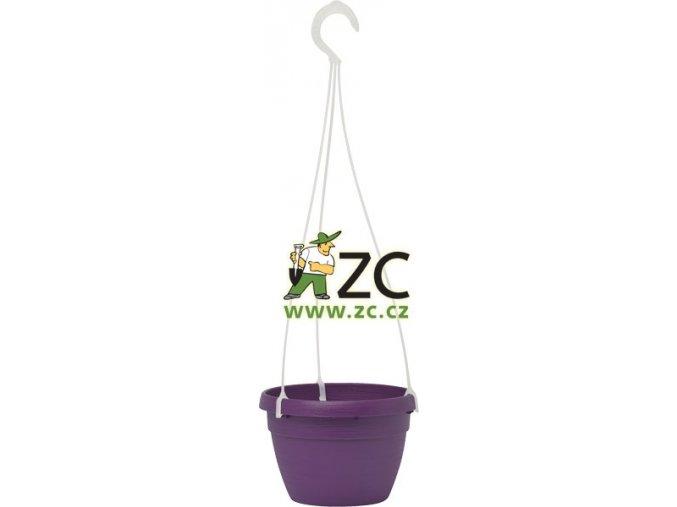 Květináč Lavaredo závěsný - fialový 20cm