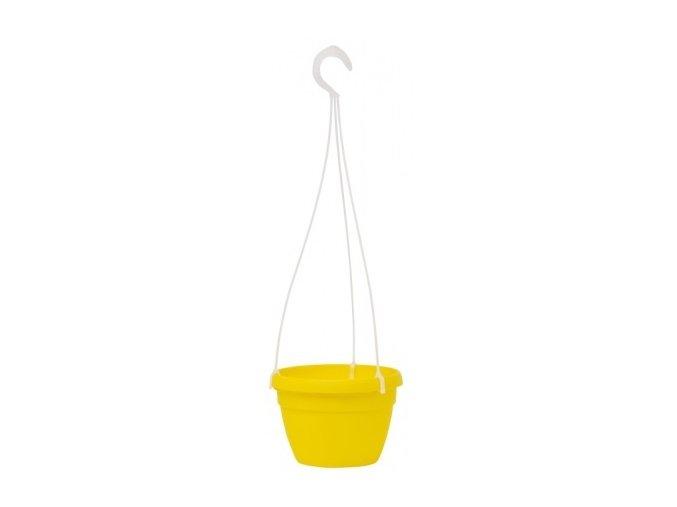 Květináč Lavaredo závěsný - žlutý 20cm